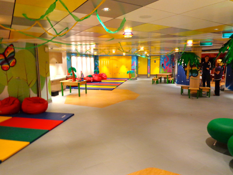 "We showed you ""Entourage"" earlier which is the private area for the teenagers onboard.  Well, here's one of the 2 floors of the ""Splash Academy' that takes care of the 12 & under crowd."