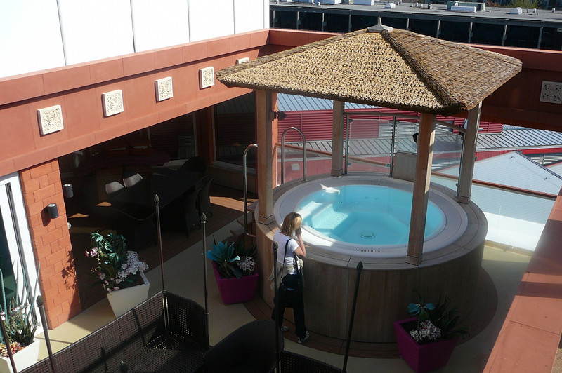 "What a great way to enjoy a Hot Tub on a Cruise Ship... in the privacy of your own ""Garden Villa!!"" :-)"