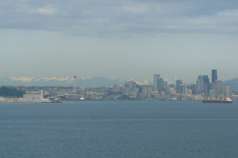 "A shot of the ""Seattle Skyline"" as we sail away for our 2 day ""Cruise to Nowhere""."