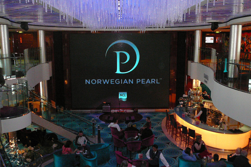 And of course what Atrium would be complete without a 2 Story screen in the center of it to help provide endless Entertainment all day and night long. :-)