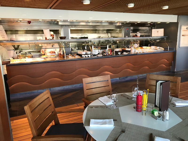 "WOW, so far we showed you the 4 specialty restaurants, the Grand Dining Room and the buffet… that's a lot of great food choices!<br /> <br /> BUT, it doesn't stop there… here's a look at ""Waves"", the poolside grill."