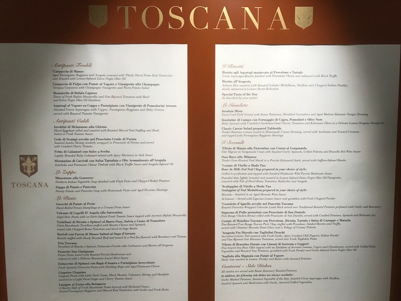 """Finally, the 4th specialty restaurant we enjoyed onboard was """"Toscana"""", Oceana's Italian restaurant… it was so yummy we ate there twice… FYI, if there's space available you can go to these restaurants multiple times, $0 charge each time!<br /> <br /> Also, when staying in Suites you can order thr specialty restaurants in your Suite as we did with Jacques & Red Ginger so we enjoyed the great food from those places twice as well.<br /> <br /> Anyways, back to Toscana… these pics show you the yummy food we enjoyed in there during our 2 visits."""