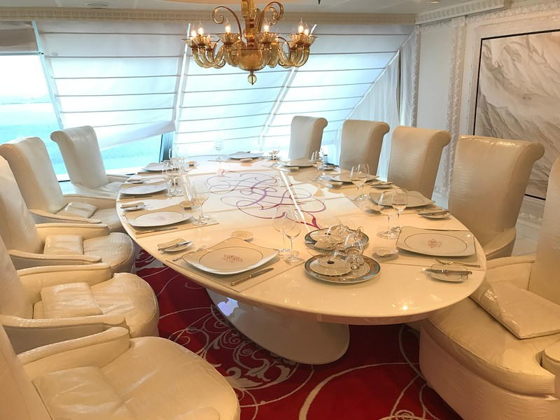 """The other place you'd pay is at this private setting if you ate here at """"Privee"""" with a super small group… you can order food from both Polo Grill & Toscana... what a great idea for a special occasion with loved ones & friends!"""