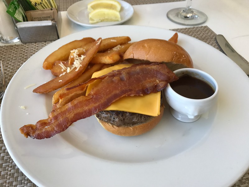 """Kobe"" burger with truffle fries, yummm!! :-)"