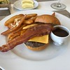 """Kobe"" burger with truffle fries, yummm!! :-)"