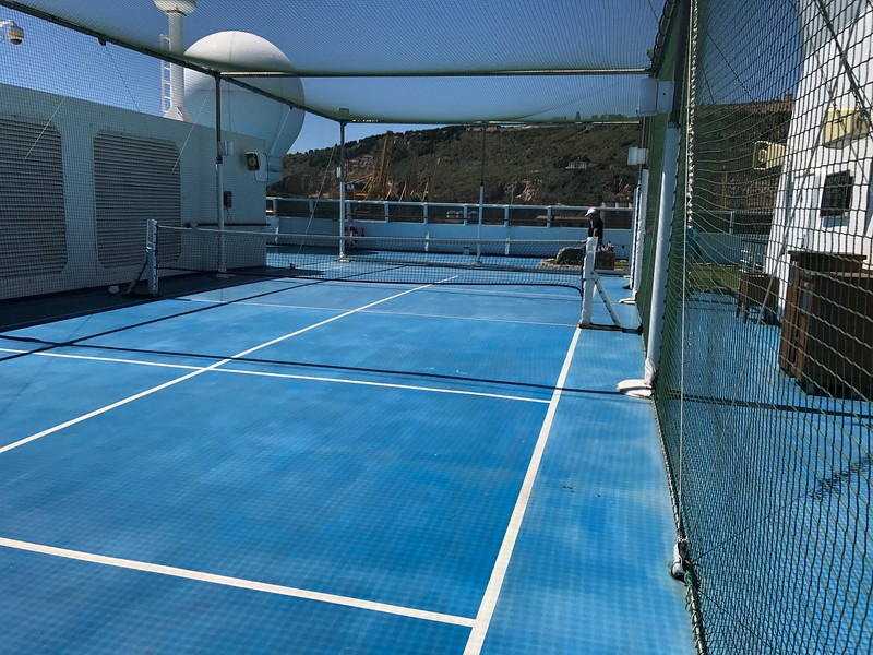 The Paddle Tennis court.