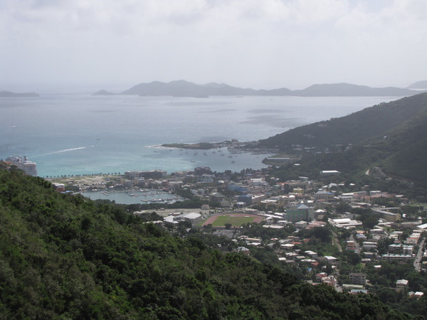 For our 7th & final stop of our 12 Night Southern Caribbean Christmas & New Years Cruise we visited the British Virgin Island of Tortola... there's a look at the Island's main town, Road Town, from a mountain high above.