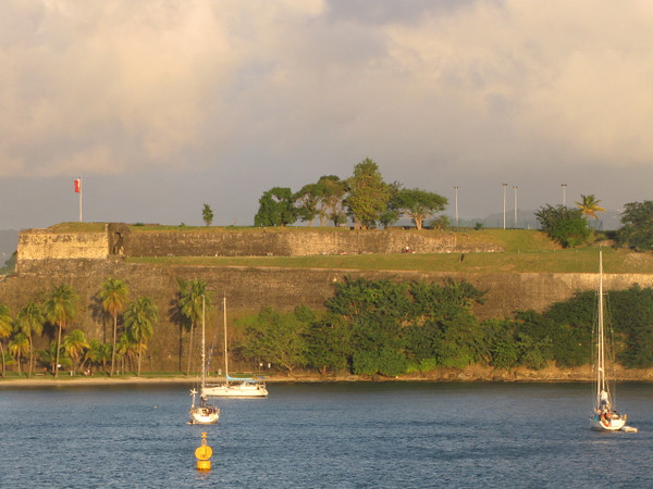 "There's a familiar site for those who've Cruised into Fort de France... ""Fort Saint-Louis""... a historical site and active naval base that hundreds of years ago defended Fort de France from attack."