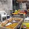 One nice thing about Barbados is they say year-round there's always fresh & tasty tropical fruits available... which you can get at stands like these all around the island.