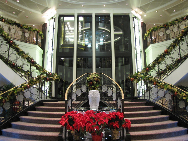 """There's the """"Marina's"""" beautiful atrium, designed by Lalique, who are world renowned for their fine quality crystal and jewelry design... when you walk through here you'll get a feel for how gorgeous Marina is!"""