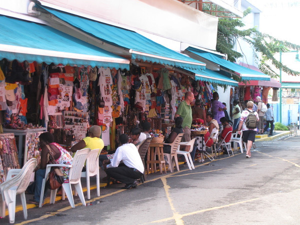 Like the other Caribbean ports, St. John's, Antigua has plenty of shopping available... yep they have the mini-malls, etc. but also lots of these outdoor local vendors... fun! :-)
