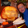 "There's Nancy admiring the amazing pumpkin carving of ""Dracula""!! :-)"