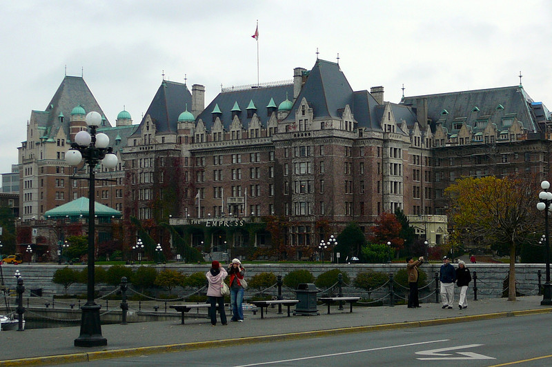 "There's the famous ""Fairmont Empress"" in Victoria... ""Tea anyone?"" :-)"
