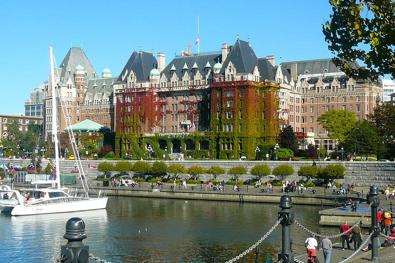 """For those of you who've been to Victoria before, you know this site... the World Famous """"Fairmont Empress""""... high tea anyone? :-)"""