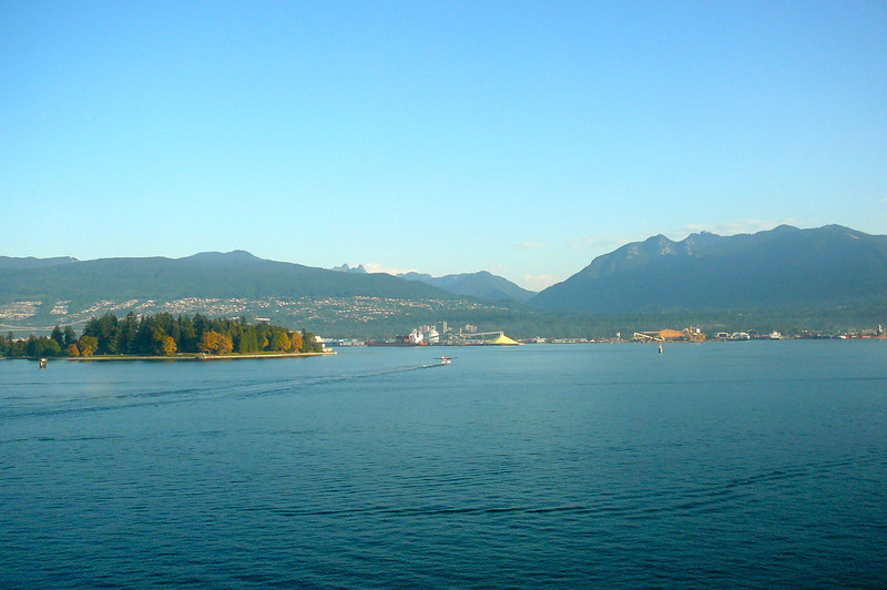 """There's """"Stanley Park"""" and the Beautiful Mountain views you'll see when Cruising out of the Beautiful Port of Vancouver... we're definitely blessed to just live 6 blocks from here!!"""