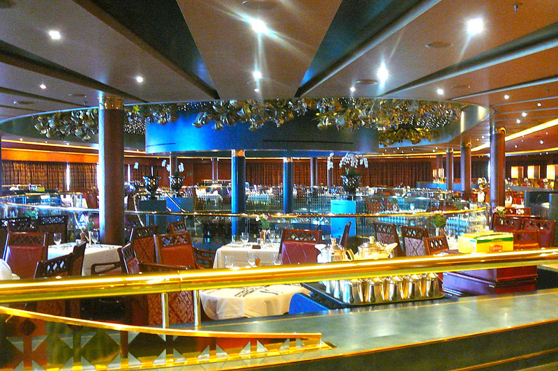 "Here's a few pics of the ""Oosterdam"" on Day 2 of our sailing to show you around.  There's a shot of the Upstairs level of the ""Vista Dining Room""."