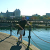 Looks like Shawn is enjoying our walk along the Harbor-front as we enjoy another Fabulous day in Victoria!