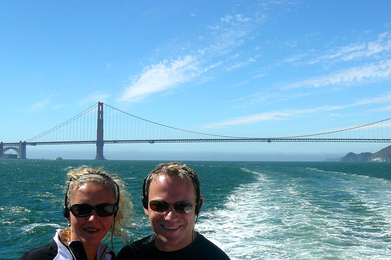 There's one last shot of the happy couple as we make our way back to the Pier in Downtown San Fran.