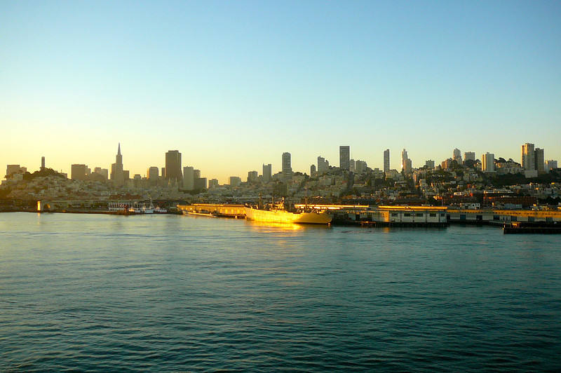 As the Ships dock right along the Waterfront when in San Francisco we were treated to an awesome view of the City as we pulled into shore!