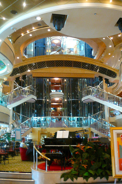 Here we are just arriving onto Cruise # 12 and it certainly was a nice site when we first stepped on and saw this Beautiful Atrium!