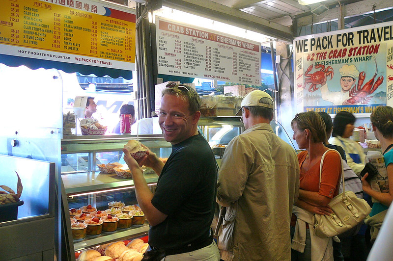 """After all this site seeing we worked up an appetite and figured we'd better hit """"Fisherman's Wharf"""" to try some of the Local Seafood... see our next pic..."""