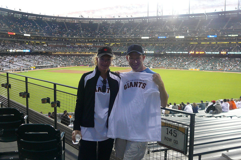"As we overnighted in San Francisco we had as much time as we wanted to enjoy the City's nightlife and we figured what better way then by attending a San Francisco ""Giants"" Game... what a fun night that was.  Beer, Hot Dogs, Popcorn, a Ghiradelli Sundae... it really was a great game!! :-)"