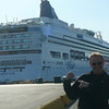 "There's Shawn showing off our ""Home"" for the week... the Beautiful ""Norwegian Star""!!"