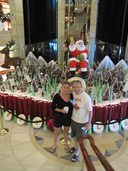 """As you don't see it on every Cruise we couldn't help but """"strike a pose"""" with Santa! :-)"""