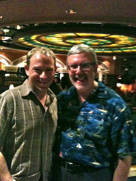 "If you love Movies like Shawn does you'll recognize this face... it's Famous Movie Critic, ""Leonard Maltin""!  Due to a partnership between Leonard & Princess we were lucky as on our Cruise he was onboard as a special guest introducing his ""unsung"" Movies of 2010 which we watched."