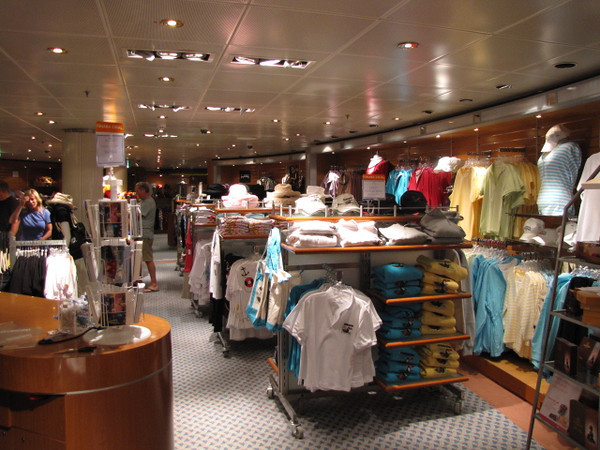 "No worries shoppers... all Cruise Ships have places to ""get your fix"" while at Sea... and of course when in Port the choices are even bigger... so if you want a Shopping Vacation, as well as a relaxing one, Cruising is simply perfect!! :-)"