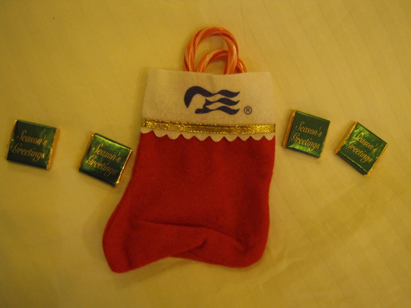 "We have to say... it was a nice treat & surprise when we came back to our room on Christmas Eve to a stocking & ""treats"" from Santa!! :-)"