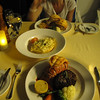 "Did we mention the meal was ""Steak & Lobster""... or as Nancy has her's, ""Lobster & Lobster"". :-)  Followed by some amazing desserts afterwards, it doesn't get any better then this!! :-)"