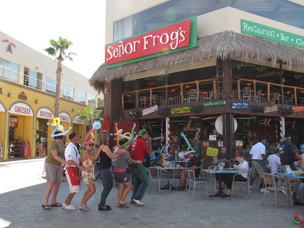 "Now what trip to Mexico would be complete without people partying at ""Senor Frogs""?? :-)"