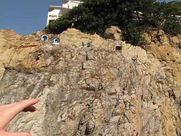 "During our 1st ever visit to Acapulco we just had to go see the World Famous Cliff Divers... here's Shawn showing you around the ""La Quebrada Cliffs"" area."