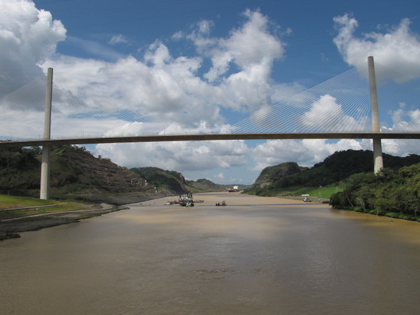 "There's a shot of the ""Centennial Bridge"" you'll go under during your Panama Canal Cruise."