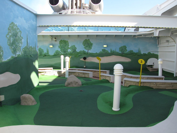 Mini-Golf at Sea... who knew!! :-)