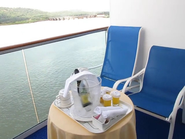 "You can have basic breakfast delivered to your room any day for Free when Cruising but on Princess we always like to treat ourselves to their ""Champagne Balcony Breakfast"" (click play to see all the great stuff they give you)... well worth the $32 per couple, especially when in the ""Panama Canal""... a great way to Celebrate!!"