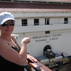 "There's Nancy proving that, ""Yes"", we really  did make our way South & journeyed through the Historic ""Panama Canal""!! :-)"
