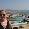 There's Nancy enjoying the Beautiful Sun and one of many of Acapulco's Famous Beaches... as during the rest of our Cruise, it was another great day!!