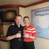 "There we are enjoying a ""Welcome Aboard"" Champagne Toast, an extra ""perk"" that guests in Mini-Suites receive... the perfect way to start your Journey ""at Sea""!"