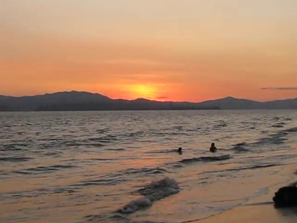 "Here's some footage to give you a ""Live"" look into what's around the Port in Puntarenas, Costa Rica.  And check out those waves as Nancy's walking through the water... Beautiful!! :-)"