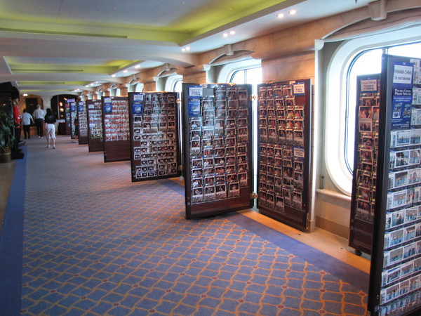 "There's the Photo Gallery on the ""Coral""... it's so fun dressing up and acting like stars every night and getting your pictures taken at the Free, portrait seating sessions... simply buy what you want... no obligations.  Lots of our pictures on this site have come from onboard Photo Galleries."