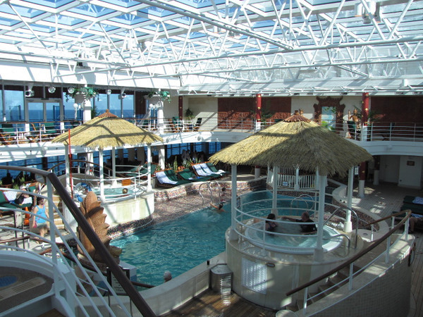 "We showed you the outdoor Pool on the ""Coral"" a couple of pictures back... well here's her indoor one... perfect for those cool days, especially considering she spends 5 months in Alaska every year. :-)"