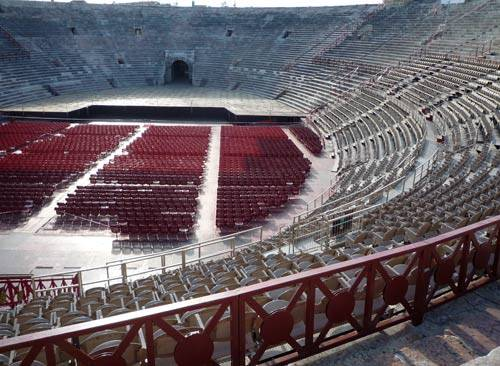 """It's not quite the Colosseum in Rome but the """"Verona Arena"""" is a very impressive structure itself which is famous for the large-scale opera performances put on there there & for being a beautifully preserved ancient structure of its kind."""