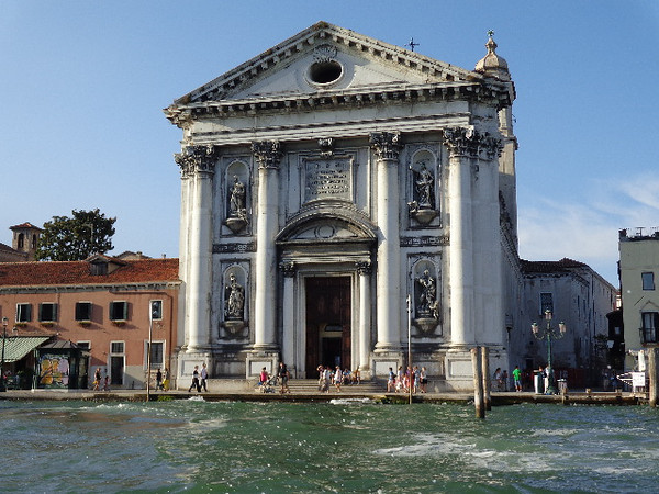 """As we Cruised through the Grand Canal we saw amazing site after amazing site like the """"San Stae"""" Church!"""