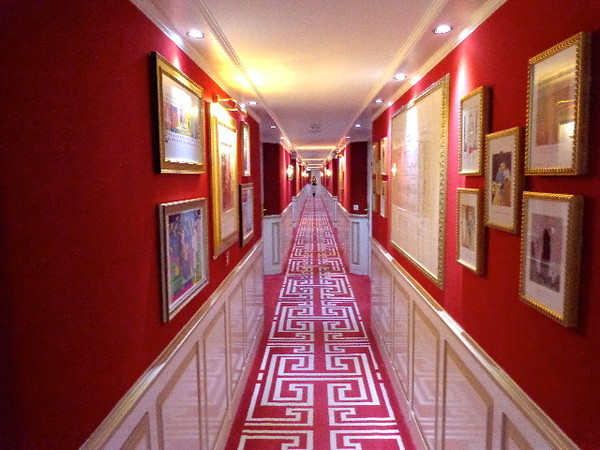 "As mentioned, Uniworld's ""Boutique"" Ships are Beautifully decorated & make you feel very spoiled while on your precious Vacation... as you'll see in this hallway, great colors, art, carpet, etc. it definitely never feels like you're on a mass-market, big-ship Cruise."