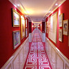 """As mentioned, Uniworld's """"Boutique"""" Ships are Beautifully decorated & make you feel very spoiled while on your precious Vacation... as you'll see in this hallway, great colors, art, carpet, etc. it definitely never feels like you're on a mass-market, big-ship Cruise."""