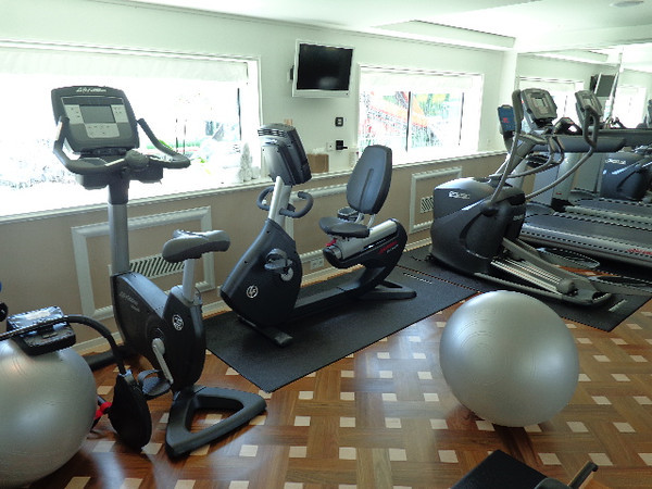 Even though River Cruise ships are very small compared to Ocean cruises (3 decks vs up to 18 & around 150 people vs up to 5,000) you can still find the necessary amenities onboard like a Gym to work off that extra dessert you ate last night! :-)