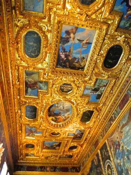 """Doge's Palace"" is where the prisoners were led from as it used to be where the courts were back in the day. Today the Palace is an amazing Museum which contains some of the best Art we've ever seen, such as what was on this ceiling. As a picture can't do a scene like this justice, for sure visit the ""Doge's Palace"" when in Venice!"