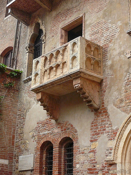 """We're not done yet, we had one more stop to make to complete our exploration of Northern Italy & it was in none other then Verona... the setting of Shakespeare's infamous """"Romeo & Juliet"""". And there's Juliet's Balcony to prove it! :-)"""